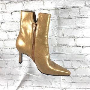 Stuwart weitzman Gold Toe Pointed heeled boots